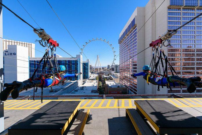 Fly Linq tyrolienne Las Vegas USA